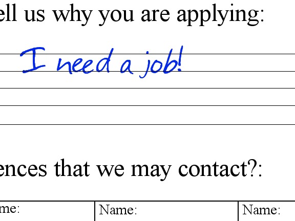 Why You Are Applying