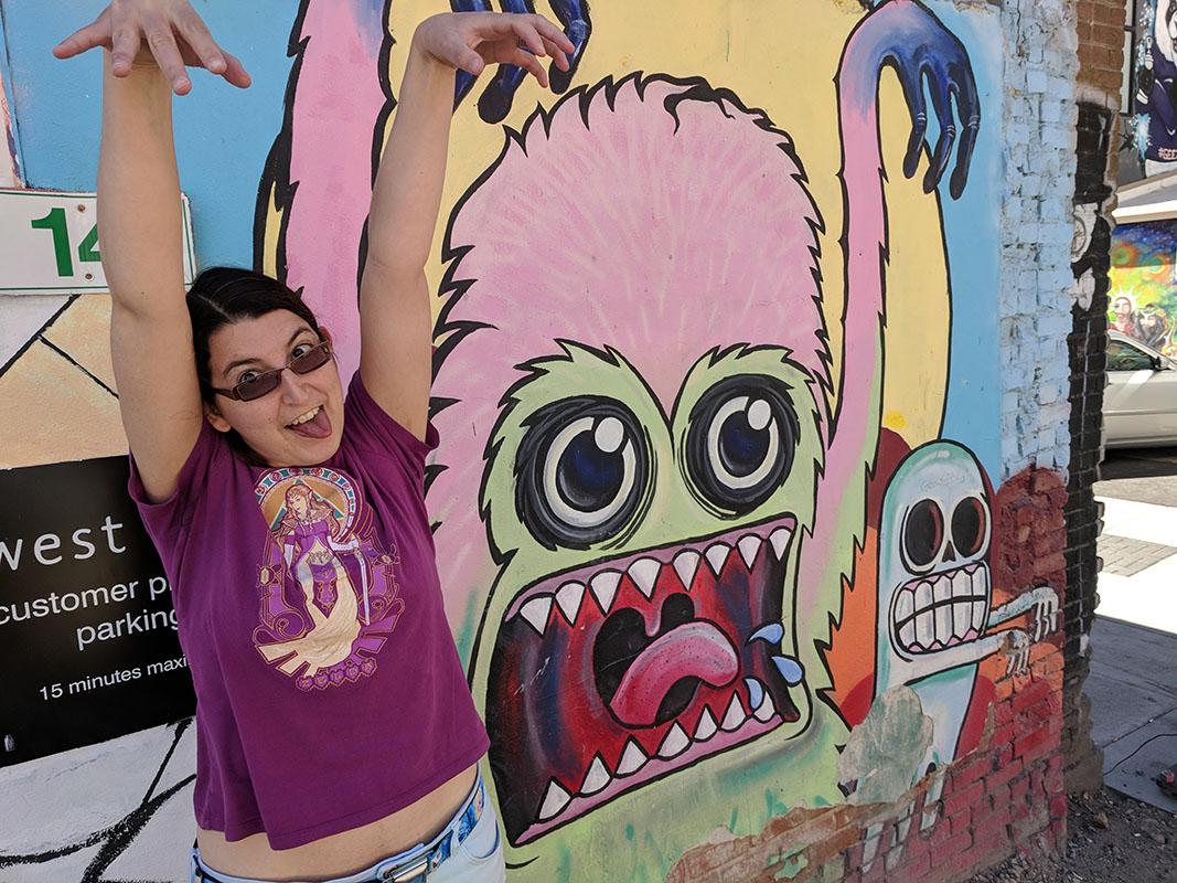 BogusRed posing at Freak alley