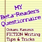 MY Beta-Reader's Questionnaire
