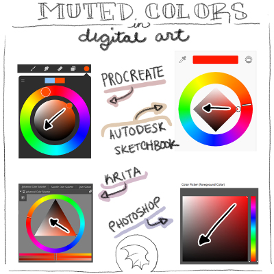 How to pick muted colors with digital art programs