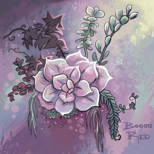 Succulents artwork by BogusRed