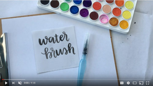 water brush video