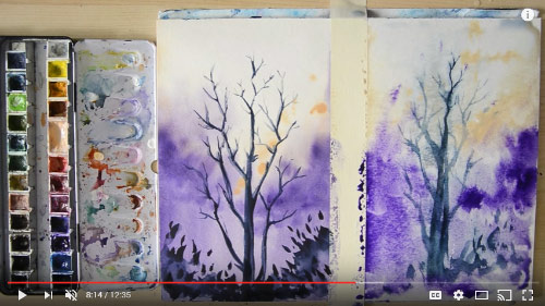 watercolor video