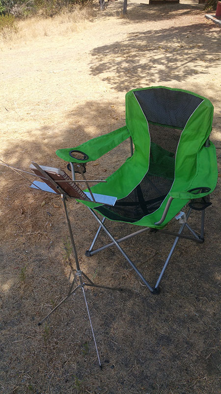 folding chair for drawing