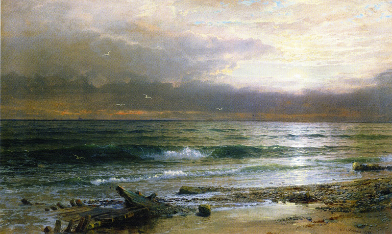 final painting by William Trost Richards