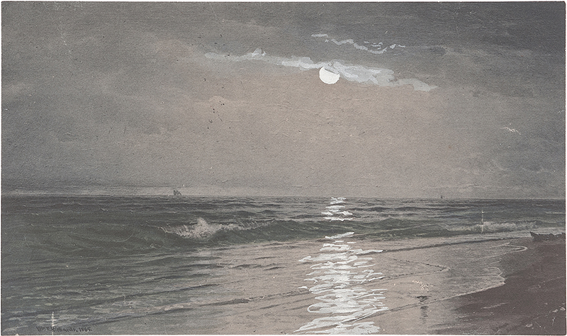 rough tonal study by William Trost Richards