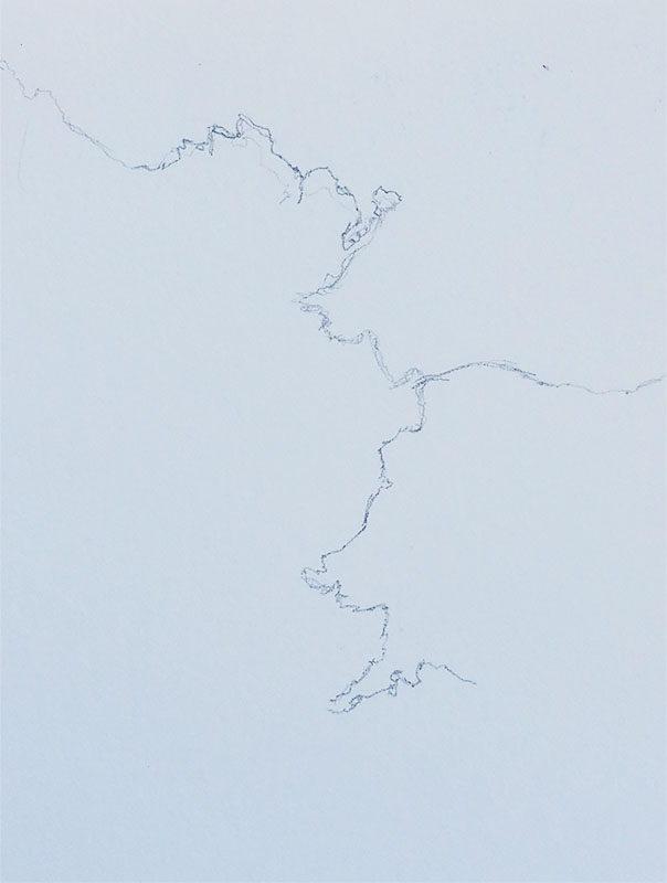 contour drawing of landscape