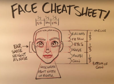 face cheat sheet